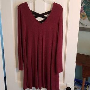Soft long sleeve dress
